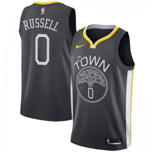 Nike Golden State Warriors Swingman Gold D'Angelo Russell Black Jersey - Statement Edition - Youth