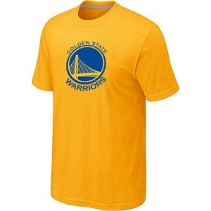Golden State Warriors Gold Big & Tall Primary Logo T-Shirt - Yellow - Men's